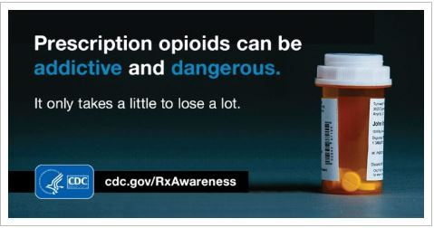 "Opiod Awareness "" It only takes a Little to lose Alot"""